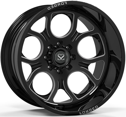 Off Road 4x4 Wheels 20x10 20x12 20x14 24x12 và 24x14 Gloss Black Deep Dish Rims